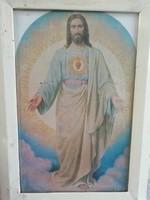 Régi Jézus kép, falikép, falidísz