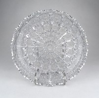 0Z222 Nagyméretű kínáló kristály tál 23.5 cm