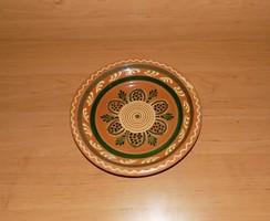 Mázas kerámia falitányér 21 cm (n)