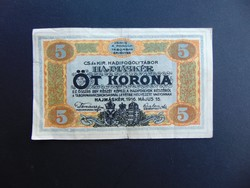 Hajmáskér 5 korona 1916  02
