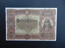 5000 korona 1920 5 B 01 nagy méretű bankjegy !
