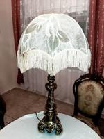 Hatalmas bronz asztali lámpa