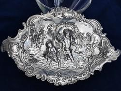 Pazar antik ezüst tál puttókkal