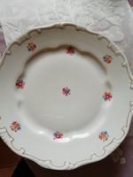 4 db virág mintás Zsolnay tollazott porcelán lapos tányér