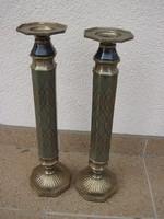 2 db szép bronz gyertyatartó