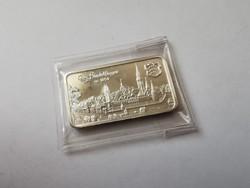 Heraus(svájc) ezüst lap-31,1 gramm 0,999 Sindelfingen város,gyönyörű darab
