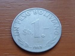 BOLÍVIA 1 PESO BOLIVIANO 1969 #