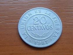 BOLÍVIA 20 CENTAVOS 1987 (STUTTGART) #