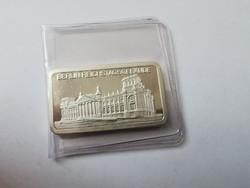 """Degussa """"Berlin Reichstag"""" ezüst lap 31,1 gramm 0,999"""