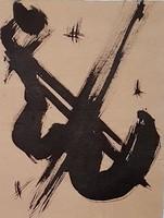 Borsos Miklós -  32 x 24 cm tus, papír