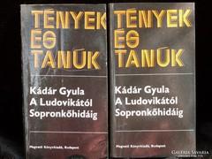 Kádár Gyula, A Ludovikától Sopronkőhidáig I-II.
