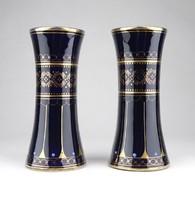 0Z186 Karlsbadi szecessziós kobaltkék váza pár