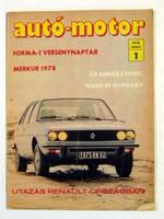1978 július 14  /  autó-motor  /  SZÜLETÉSNAPRA RÉGI EREDETI ÚJSÁG Szs.:  3577