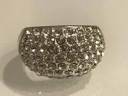 Swarovski kristályos gyűrű, jelzett