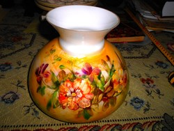 Antik   kézzel festett lüszter lámpa búra - különleges szép kézműves darab