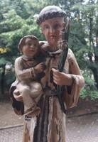 XVIII. szd. Szent Antal faszobor