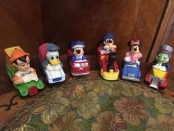 6 darab Ritka Disney Matchbox az 1970-es évekből