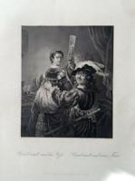 Rembrandt van rijn wonderful copper engraving made around 1850 !!!