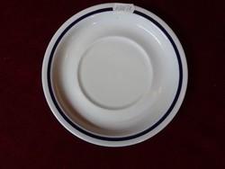Alföldi porcelán kék csíkos teáscsésze alátét, átmérője 16,5 cm.