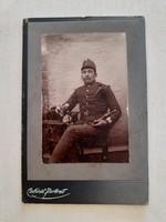 Régi fotó katona műtermi fénykép