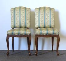 0Z209 Régi neobarokk szék pár