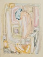 Németh Miklós - 15 x 12 cm akvarell, papír