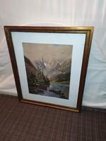 Meseszép jelzett antik 1902-es festmény!M.N.G. kiviteli engedélyel!