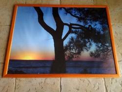 Nagyméretű fotónyomat kép, üvegezett, fa keretben, 80x60cm
