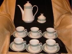 Antik 14 db-os Bohemia kávés/teás készlet,jelzett