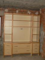 Nagy szekrény szekrénysor polcos fiókos tárolós