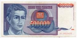Jugoszlávia 500000 jugoszláv Dínár, 1993