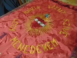Régi Mária Szent Szíve körmeneti zászló
