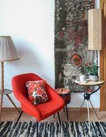 Retro mokett falikárpit, falvédő, fali szőnyeg - zöld minta I.