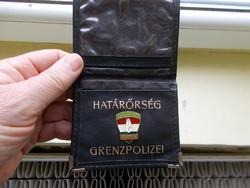 Magyar hatarőrség igazolványtartó,fém jelvény