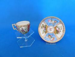 Meisseni  kávés csésze aljal eredeti   19 századi