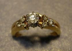 14 & 10 Karátos sárga és fehér arany 0.20 Karátos Gyémánt Gyűrű