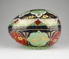 0Z285 Hatalmas jelzett cseh porcelán tojás 1910 k.