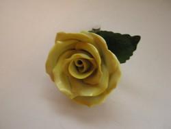 Herendi, hatalmas szirmú sárga rózsa 2.