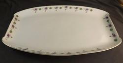 Hüttl Tivadar szecessziós húsos tányér nagy méret , ibolya mintás  ,ritka !!!!!!!!!!!!!!!!!