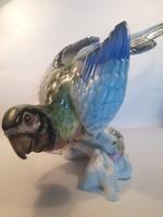 Nagyméretű porcelán papagáj 44 cm
