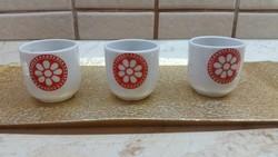 Hollóházi porcelán kis pohár, csésze 3 db eladó!