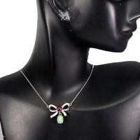 Elbűvölő ,valódi  Etióp opál & rubin köves medál lánccal  925 ezüst 14k arany bevonat