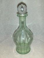 Antik zöld üveg palack kiöntő ital kínáló (6/d)