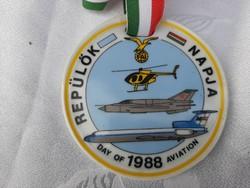 1988 Repülőnap porcelán plakett