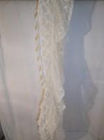 Textil - CSIPKESÁL - törtfehér - 180 x 25 cm - hibátlan