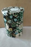 Virágmintás fém doboz,kb 20 cm magas, ajánljon!