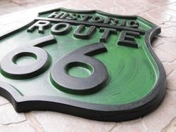 Harley Davidson Chopper Route 66 Usa veterán motor Retró loft industrial nem zománc tábla