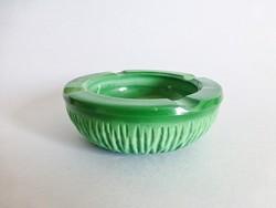 Gyönyörű,smaragdzöld malachitos üveg hamutál