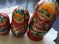Beautiful matryoshka girls: 5 pieces