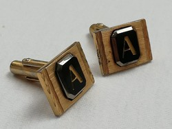 Parkton márkájú A monogramos retro bizsu arany színű mandzsetta gomb újszerű állapotban